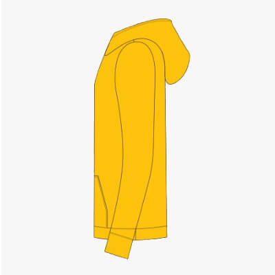 Hoodie Yellow Elmar Solar Need a Boost - Left