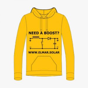 Hoodie Yellow Elmar Solar Need a Boost - Front